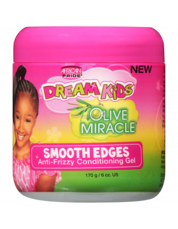 African Pride Dream Kids Olive Miracle Smooth Edges Anti Frizz Conditioning Gel
