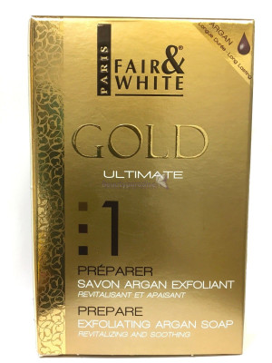 Fair and White gold Ultimate Prepare Exfoliating Argan Soap
