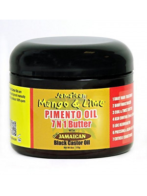 Jamaican Mango And Lime Black Castor Pimento Oil 7 In 1 Butter