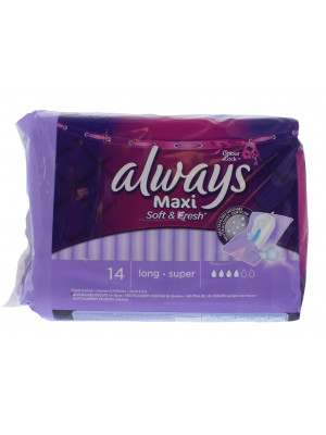 Always Maxi Soft And Fresh long Super 14 ST