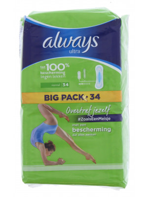 Always Ultra Normal Big Pack 34 ST